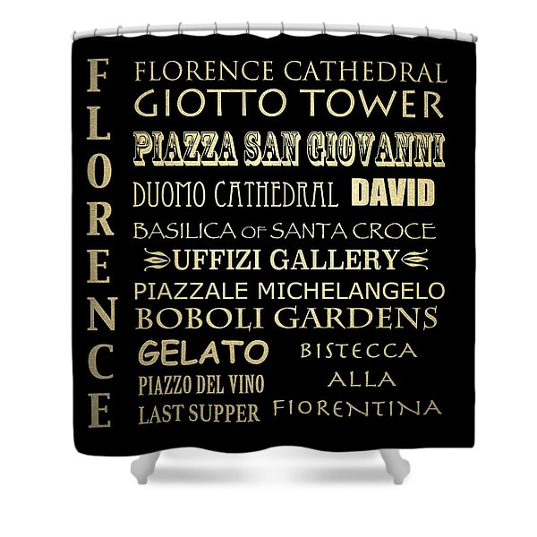 Florence Italy Famous Landmarks Shower Curtain