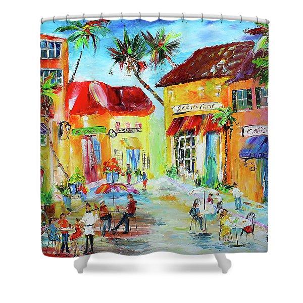 Florida Cafe Shower Curtain