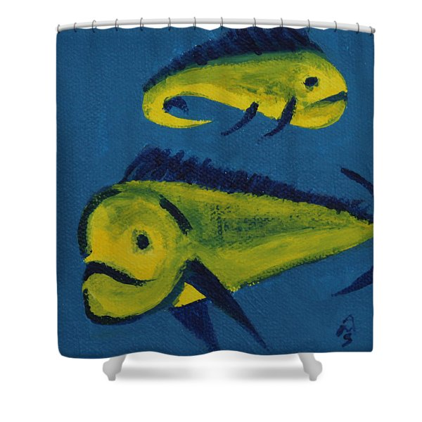 Florida Fish Shower Curtain