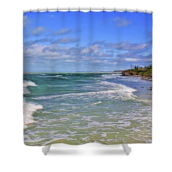 Florida Gulf Coast Beaches Shower Curtain