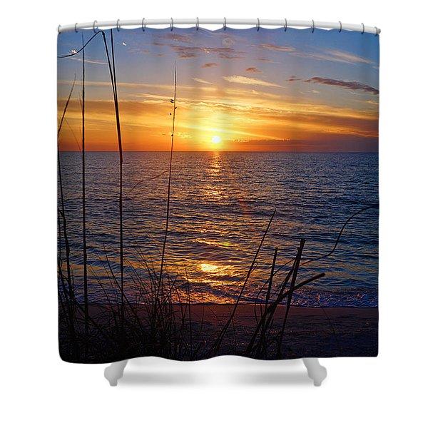 Florida Gulf Coast Sunset Shower Curtain