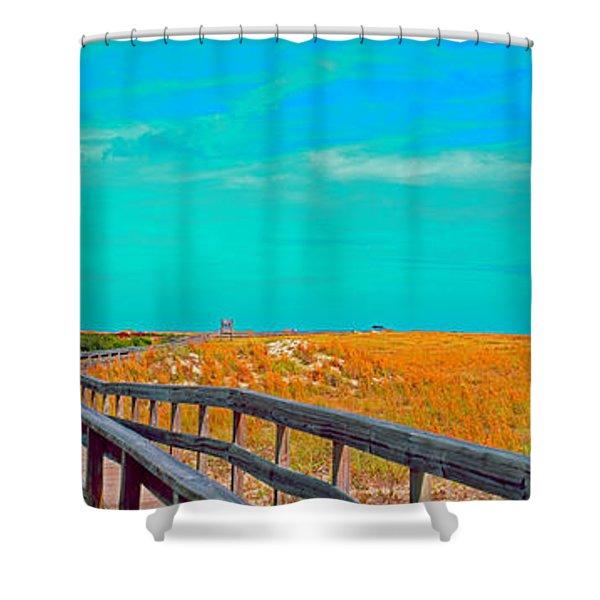 Florida Sand Dunes Atlantic New Smyrna Beach Shower Curtain