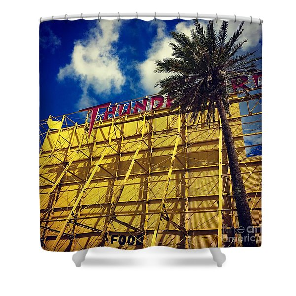 Florida Thunderbird Drive In Shower Curtain
