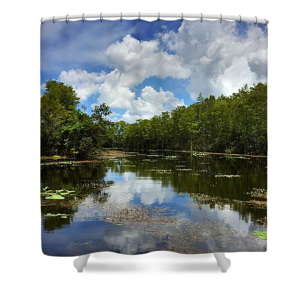 Florida Wetlands Shower Curtain