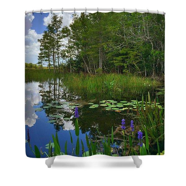 Florida Wetlands Reflections Shower Curtain