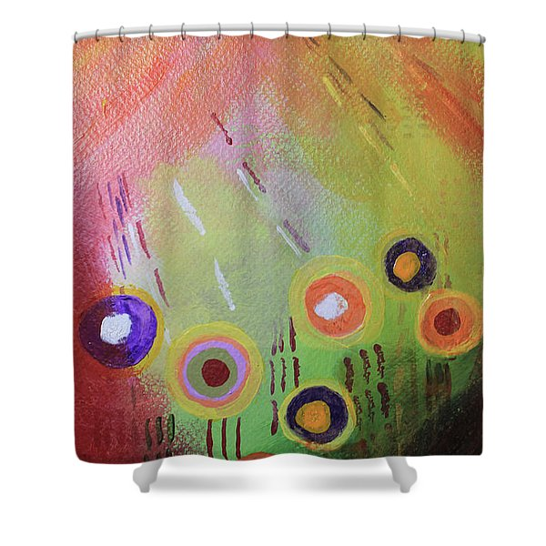 Flower 1 Abstract Shower Curtain
