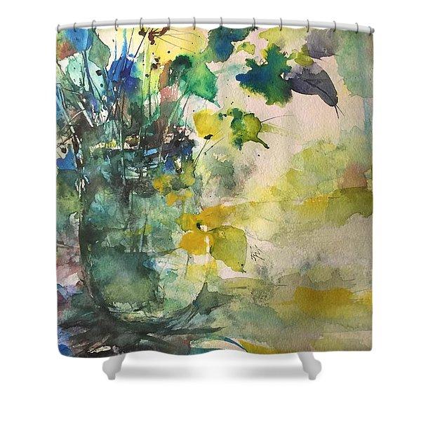 Flower And Vase Stilllife  Shower Curtain