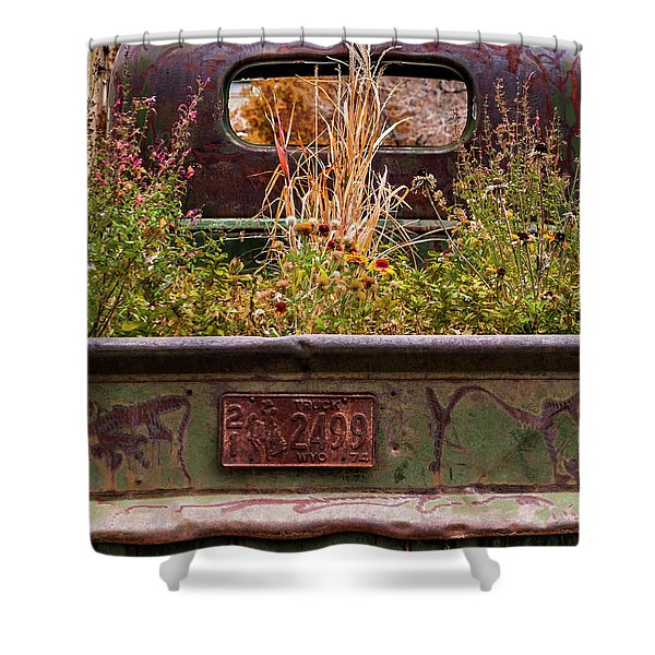 Flower Bed - Nature And Machine Shower Curtain