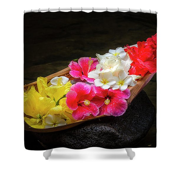 Flower Boat Shower Curtain