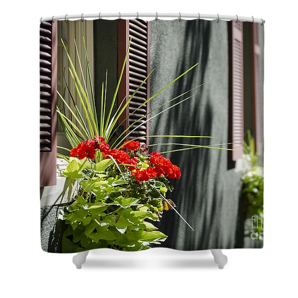 Shower Curtain featuring the photograph Flower Box by Andrea Silies