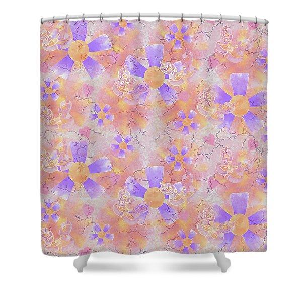 Flower Clown Pattern Shower Curtain