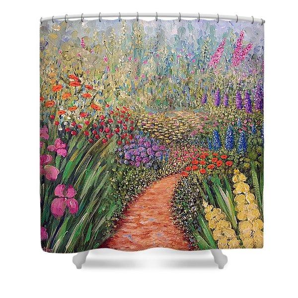 Flower Gar02den  Shower Curtain