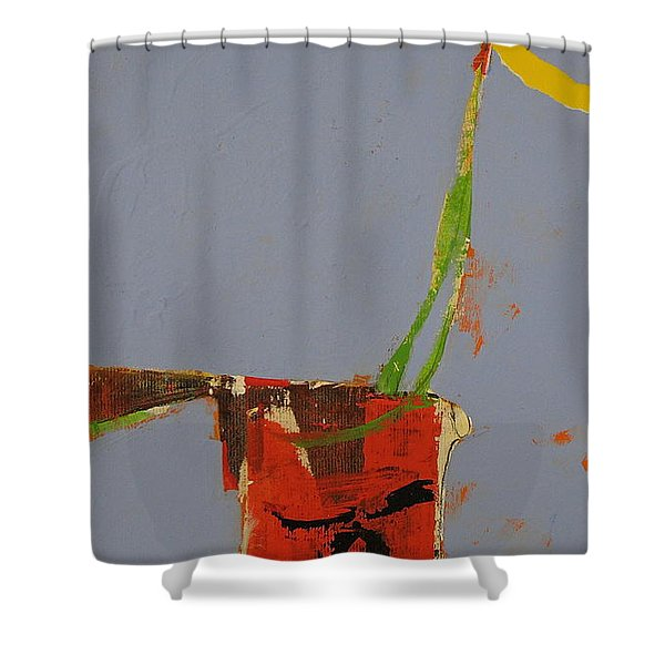 Flower In Pitcher- Abstract Of Course Shower Curtain