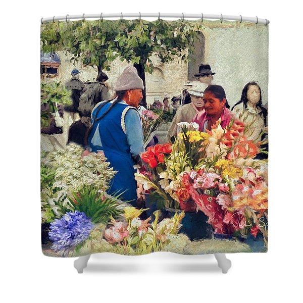 Flower Market - Cuenca - Ecuador Shower Curtain