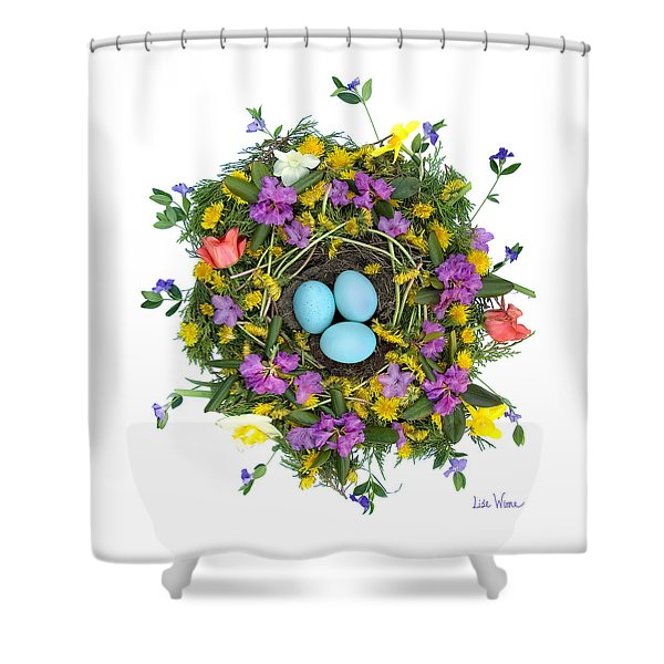 Flower Nest Shower Curtain