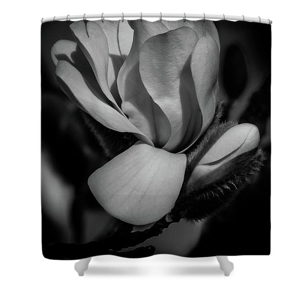 Flower Noir Shower Curtain