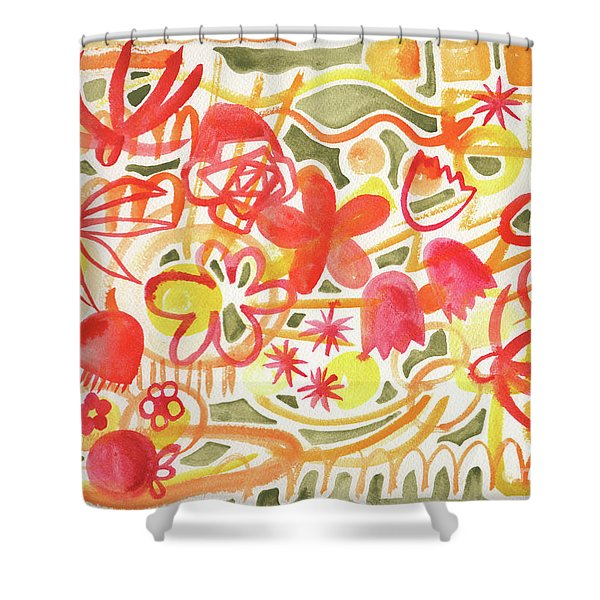 Flower Parade Shower Curtain
