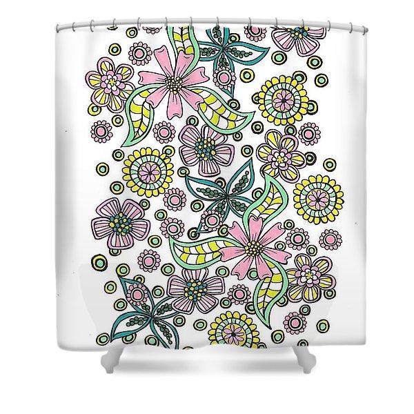 Flower Power 5 Shower Curtain