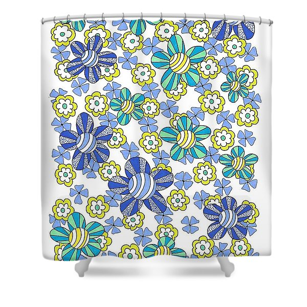 Flower Power 7 Shower Curtain
