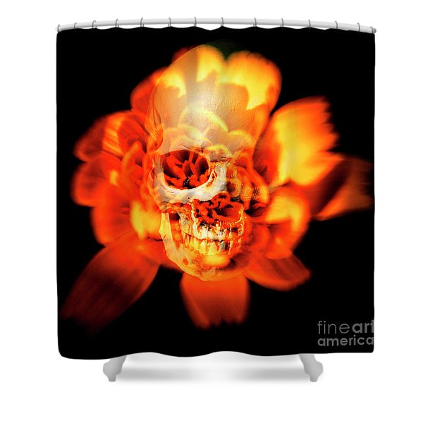 Flower Skull Shower Curtain