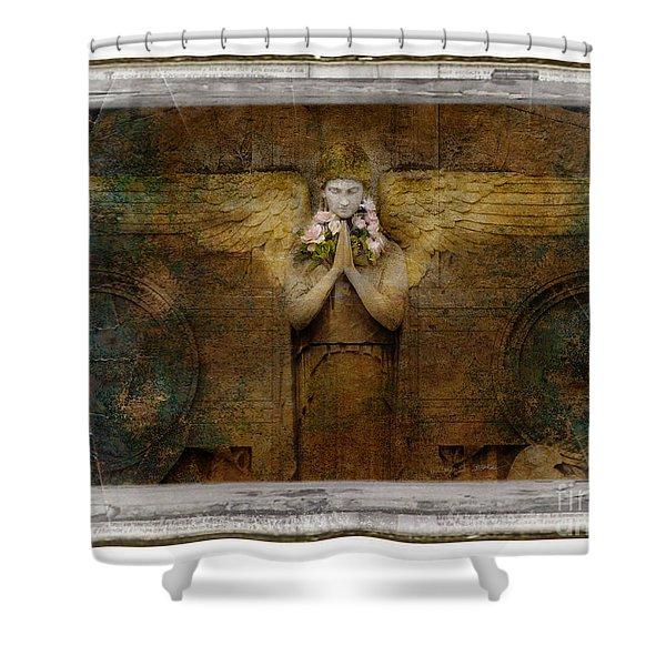 Flower Spes Angel Shower Curtain