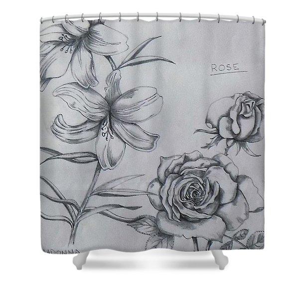 Flower Study 1 Shower Curtain