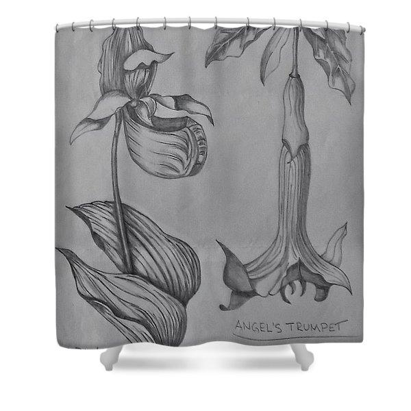 Flower Study 3 Shower Curtain