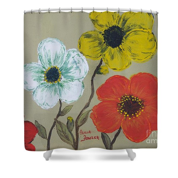 Flower Trio Shower Curtain