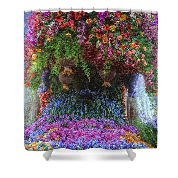 Flower Wave Shower Curtain