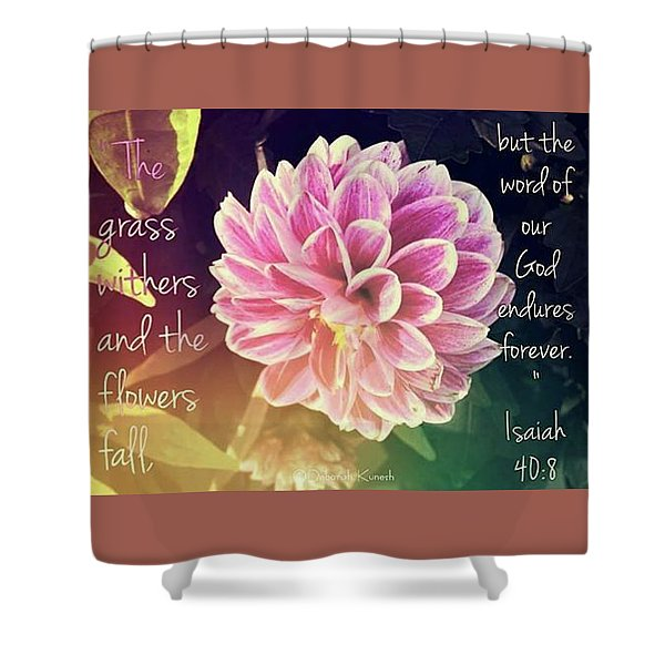 Flower With Scripture Shower Curtain