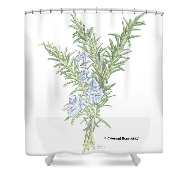 Flowering Rosemary Shower Curtain