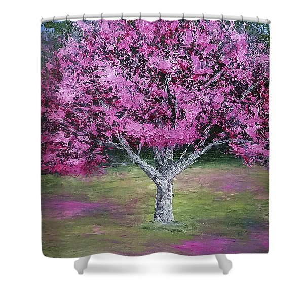 Flowering Tree Shower Curtain