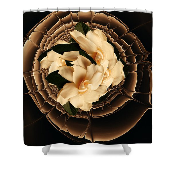 Flowers And Chocolate Shower Curtain
