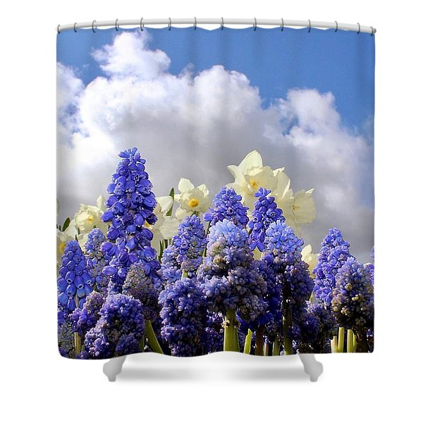 Flowers And Sky Shower Curtain