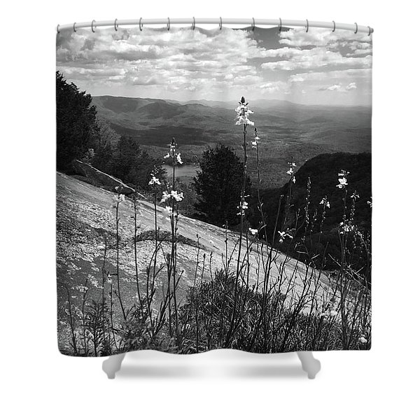 Flowers At The Top Of Table Rock Trail Shower Curtain