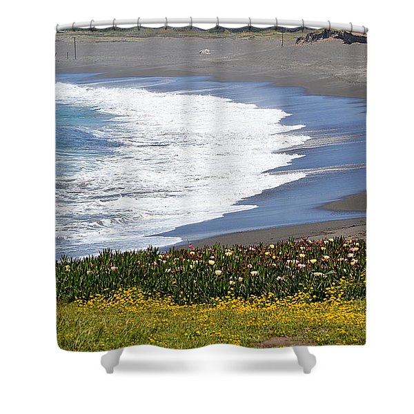 Flowers By The Sea Shower Curtain