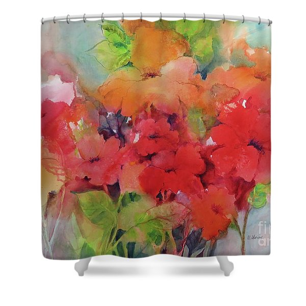 Flowers For Peggy Shower Curtain