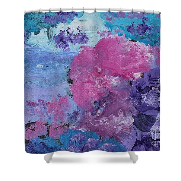 Flowers In The Clouds Shower Curtain