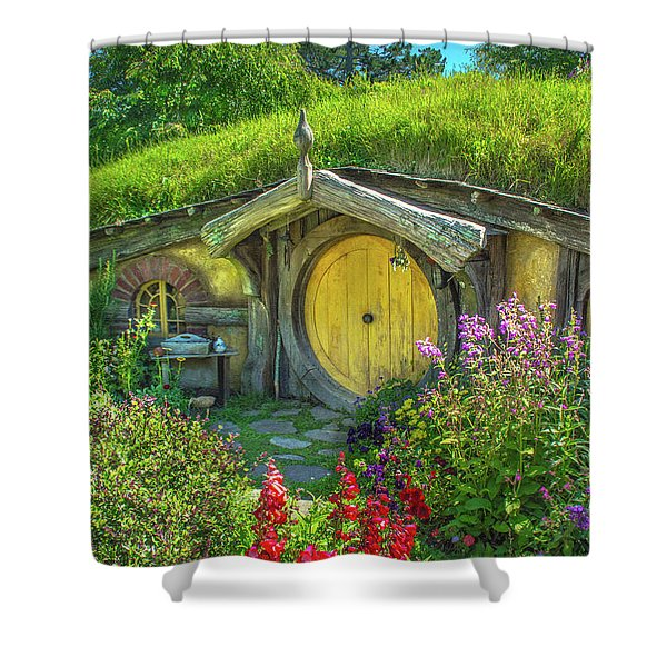 Flowers In The Shire Shower Curtain