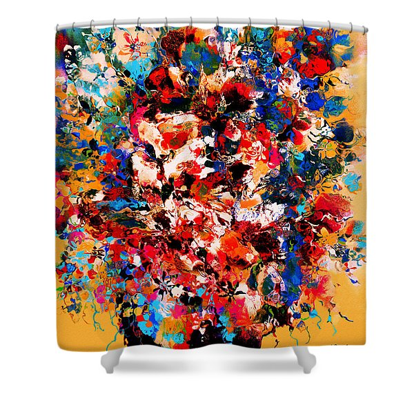 Flowers Of Love Shower Curtain