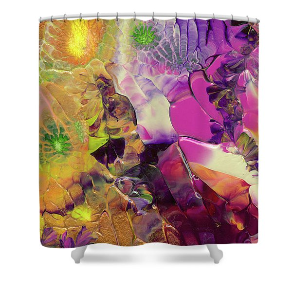 Flowers Of The Cosmic Sea Shower Curtain