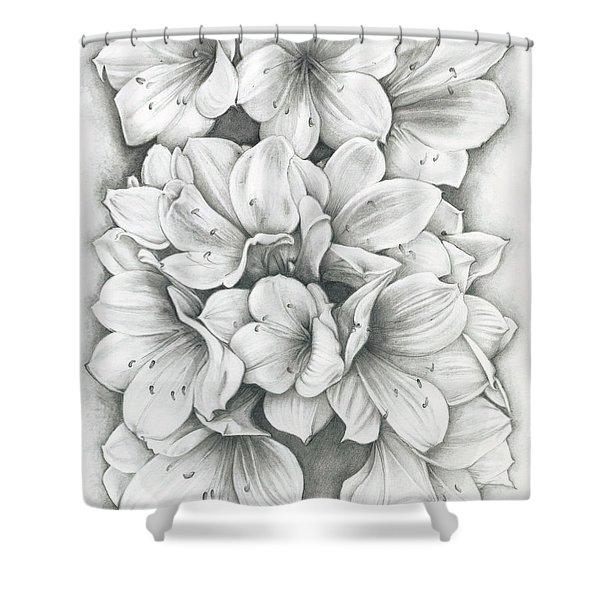 Clivia Flowers Pencil Shower Curtain