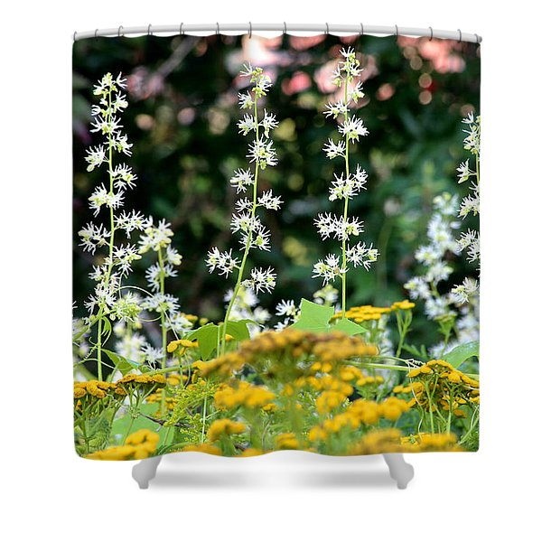 Flowers Sparkling Above The Tansies Shower Curtain
