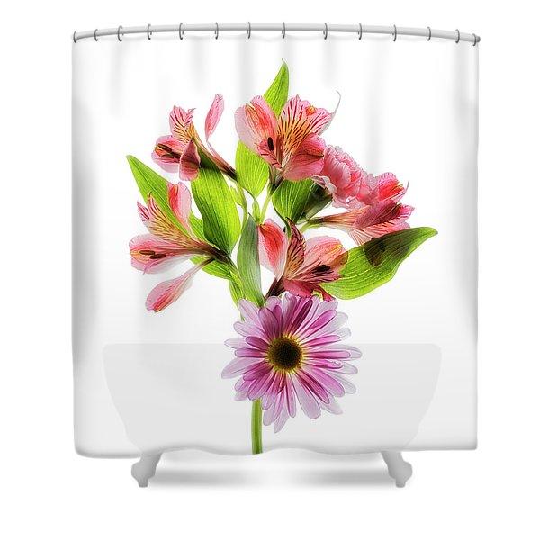 Flowers Transparent  2 Shower Curtain