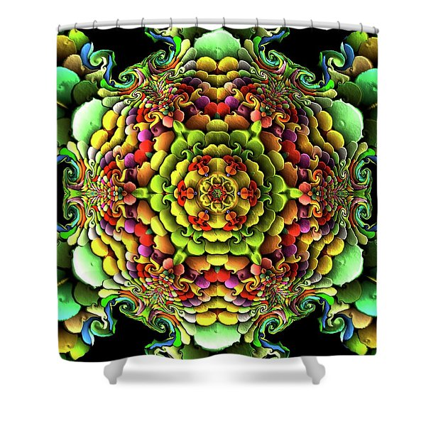 Shower Curtain featuring the digital art Flowerscales 61 by Robert Thalmeier