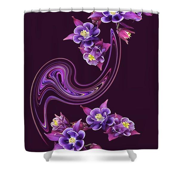 Flowing Purple Velvet Shower Curtain