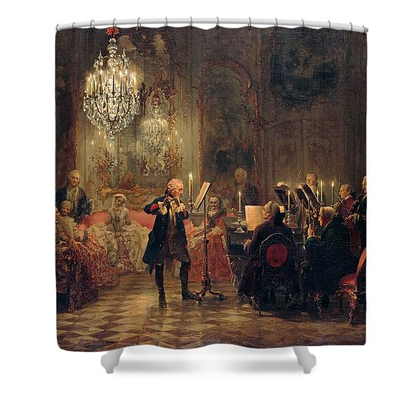 Flute Concert With Frederick The Great In Sanssouci Shower Curtain