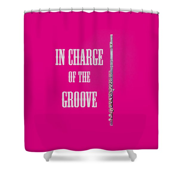 Flute In Charge Of The Groove 5527.02 Shower Curtain