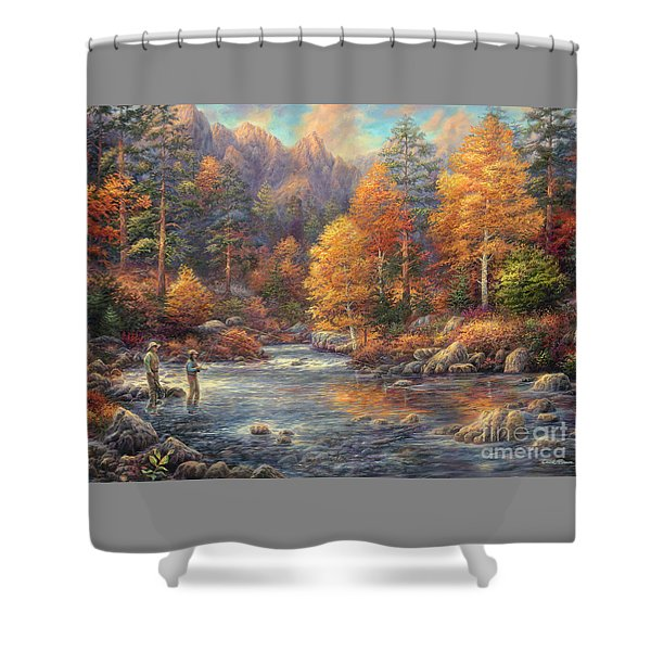 Fly Fishing Legacy Shower Curtain