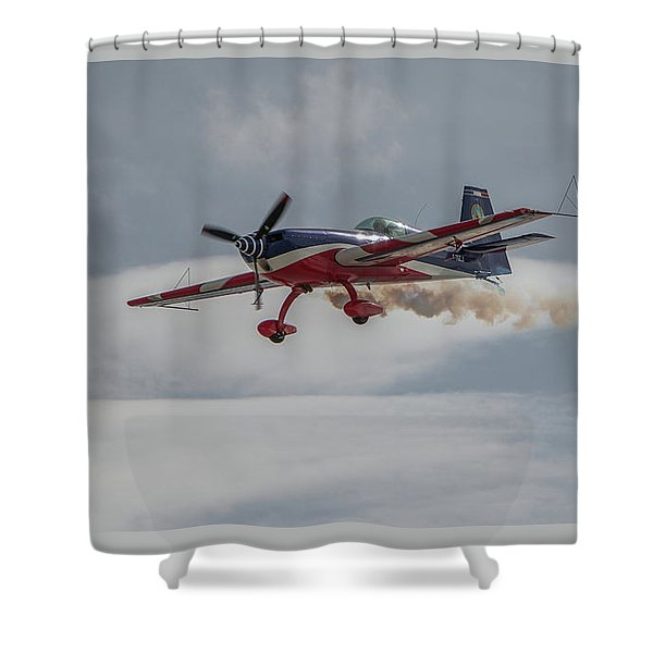 Flying Acrobatic Plane Shower Curtain